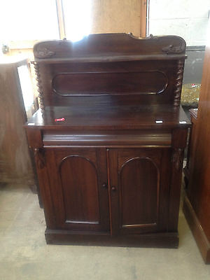 William IV Gothic Arch Rosewood Chiffonier Sideboard Buffet Cabinet Cupboard