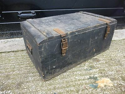 Vintage Pine Painted Military Chest Trunk