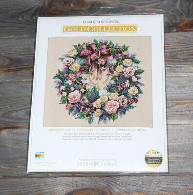 Dimensions Counted Cross Stich Gold Collection Wreath of Roses 70-003837