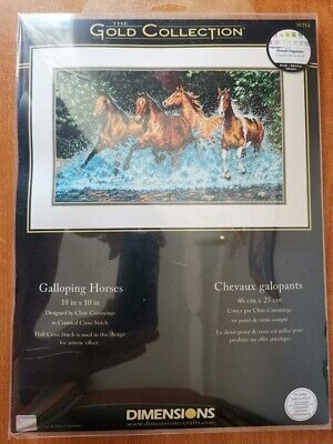 Dimensions Counted Cross Stich Gold Collection Galloping Horses 35214