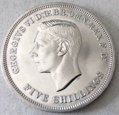 1951 George VI Festival of Britain Crown Coin - case with COA -Edge Error