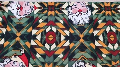 930ba4eee2f12e LuLaRoe TC2 Plus size leggings Christmas Santa Faces Aztec black green FUN  NWOT