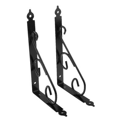 Antique Style Cast Iron Wall Shelf Bracket Commodity Shelving Brace 25x16cm