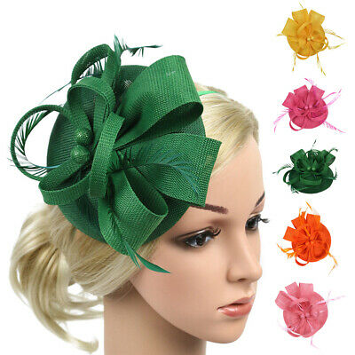 Women Fascinator Hats Headwear Big Flower Solid Cocktail Party Wedding Accessories Weddings & Events