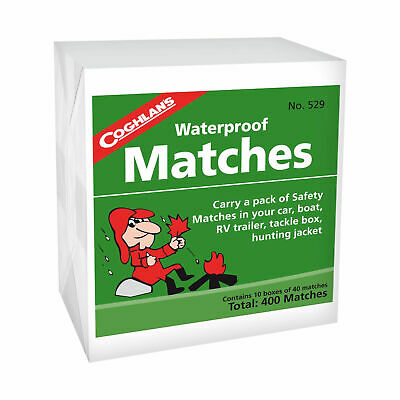 (2X) Coghlan's Waterproof Matches 800-Count Wooden Fire Starters 20 Boxes