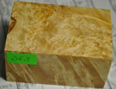 Uncolored 363 Stabilized Maple Wood Burl Block Box Woodturning Blanks 74х47х39