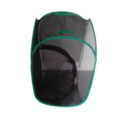 Collapsible Insect&Butterfly Habitat cage Terrarium Pop up 23.6'' Tall Black