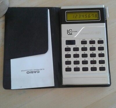 Vintage CASIO LC-821 Electronic Calculator Liquid Crystal Japan