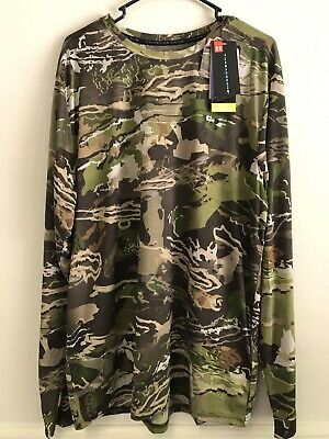 4579ba192770e Under Armour Threadborne Forest Camo Long Sleeve Shirt XXL NEW NWT hunting