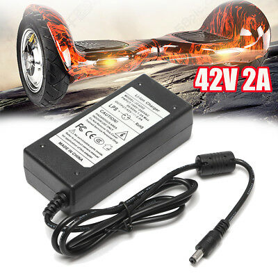 42V 2A Adapter Charger Two-wheel Self-Balanced For 36V Li-ion Lithium Battery !