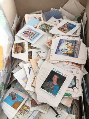 50 Different Random World Stamps On/off Paper