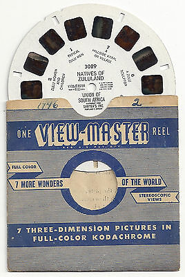 Rare Vintage Sawyer's Viewmaster Reel With Nudity The Natives Of Zululand #3029