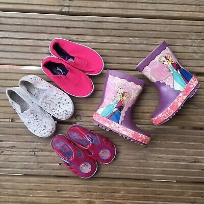Baby Girls Infant Size 6 Shoes Bundle Slazenger Plimsol Paw Patrol Frozen
