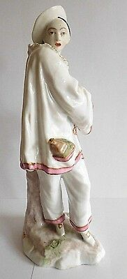 Late 19Th Century Samson Of Paris Porcelain Figure Of A Pierrot With Derby Mark