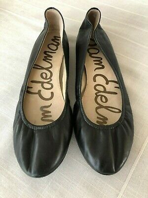 5a0b408bd Sam Edelman Noah Black Leather Ballet padded Flats Women s 8.5 M Great  Condition