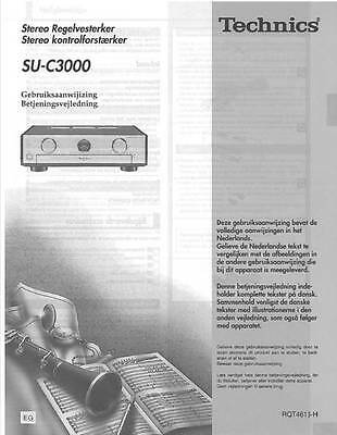 Technics - Su-C3000 - Preamplifier - User Instructions Owner's Manual - Nl Dk -