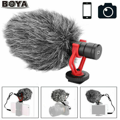 BOYA BY-MM1 Cardioid Condenser Microphone w/Windsheid for Outdoor Audio Record