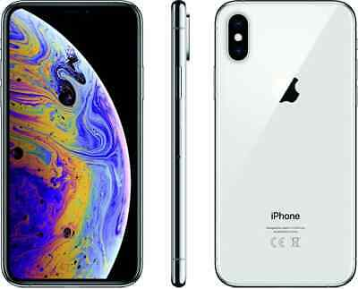Apple Iphone Xs 256Gb Silver Argento Video 4K Display Hd Garanzia 24 Mesi