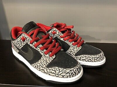 detailed look 16731 13f06 Supreme Black Cement SB Dunk Low Nike ID Sz 9