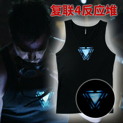 Avengers:Endgame Iron Man Reactor Black Vest Cotton Cosplay Costume Masquerade
