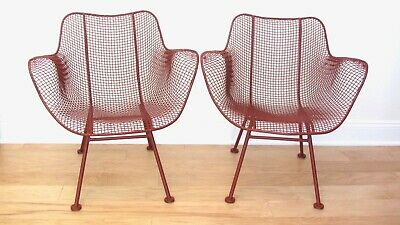 2 Vintage Russell Woodard Sculptura Occasional Arm Chairs Mid Century Modern