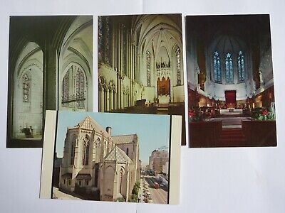 4 Grace Cathedral in San Francisco CALIFORNIA Vintage Chrome Postcards