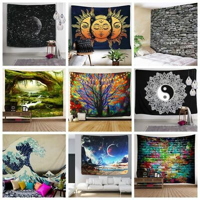 US Stock Hippie Psychedlic Tapestry Wall Hanging Art Tree Print Tapestries Decor