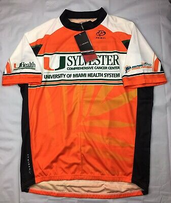 PRIMAL UNIVERSITY OF Miami Cycling Jersey Mens 2XL Sylvester Cancer UM  Hurricane