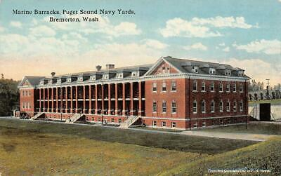 BREMERTON, WA Washington  MARINE BARRACKS~Puget Sound Navy Yards c1910s Postcard