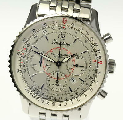 BREITLING Navitimer Montbrillant A41330 Silver Dial Automatic Men's Watch_475416