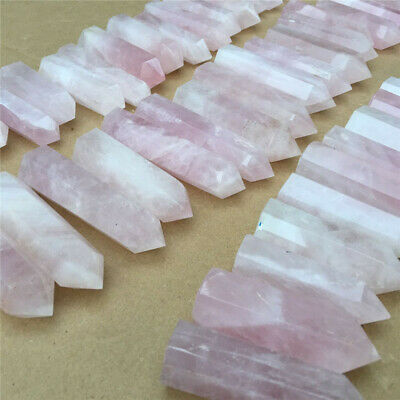 11.42 lb  Natural pink rose quartz crystal obelisk wand point healing 66 pcs