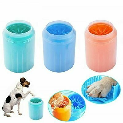 Portable Dog Paw Cleaner Pet Foot Washer Cup Silicone Feet Cleaning Brush Tool