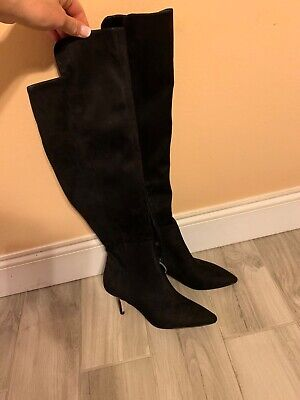 cca62baaf57 brand new black marc fisher over the knee suede boots. size 8. 2.5 inch