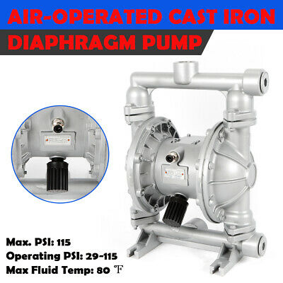 Air-Operated Double Diaphragm Pump QBK-25L Pneumatic 1/2 Inch air inlet 115 PSI