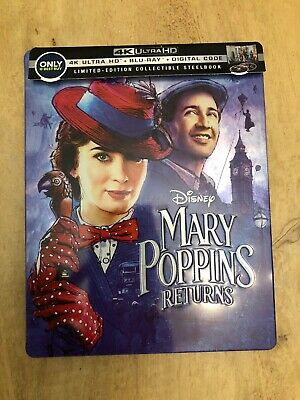 Mary Poppins Returns Best Buy Steelbook (4K UHD Blu-ray, 2-disc set, NO DIGITAL)