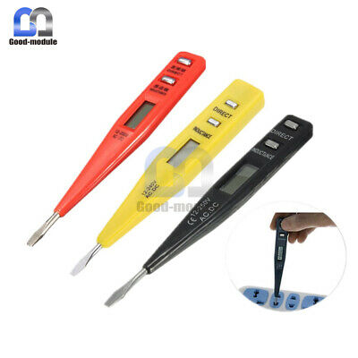 AC/DC Digital LCD Display Multifunctional Voltage Detector Continuity Tester Pen