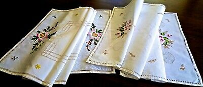2 Beautiful Runners Exquisite Hand Work Through Out Mint Condition