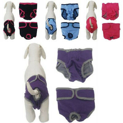 Cute Small Puppy Dog Cloth Diapers Female Washable Pomeranian Teddy Blue Red