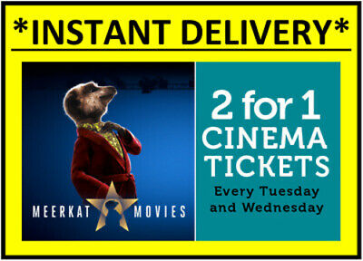 💖 2 for 1 Cinema Ticket Code >> Cineworld Odeon Vue Tuesday/Wednesday 28/29 May