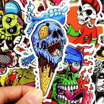 50pcs Skateboard Stickers Horror Sticker Bomb Luggage Stickers Decals Vinyl Pack