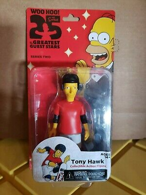 "Simpsons 25th Anniversary Tony Hawk 5/"" Action Figure Series 2 New Sealed"