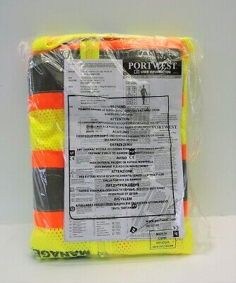 (Lot of 50) Portwest (SMALL) Safety Manager Vests wholesale lot