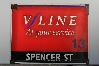 V.R. V/Line Spencer St. sign