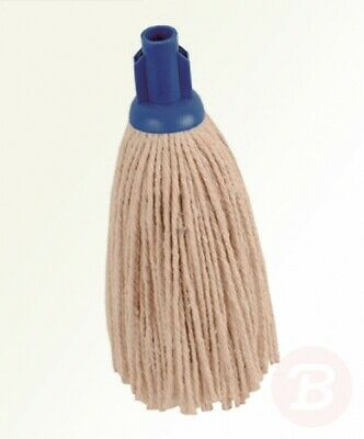 2WORK 2W04297 Socket Mop, PY Smooth, 12 oz, Blue (Pack of 10)