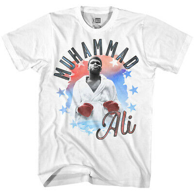 Muhammad Ali Boxing Legend Men's T Shirt Cassius Clay Watercolor Stars Champion