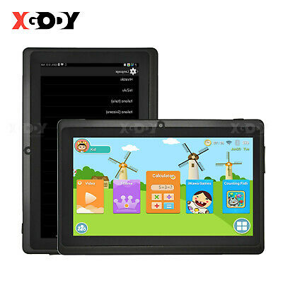 """XGODY 7"""" Android 8.1 Quad Core 16G Kids Tablet PC HD Bluetooth Dual Cam WiFi IPS"""