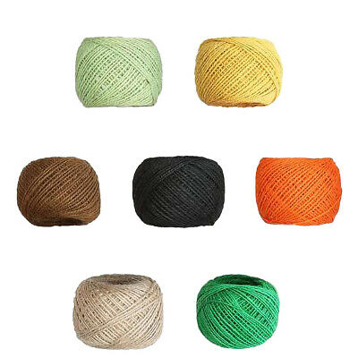 100M Roll Natural Hemp Twine Strong Jute Cord Thick Sisal Rope Burlap String AU