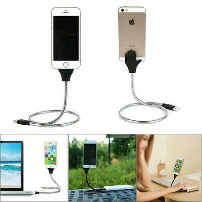 Lazy Stand Up USB Charging Cable Flexible Phone Stand Holder For iPhone Android