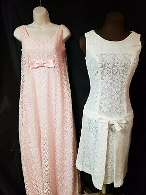 Lot Of Two Vintage 70's Lace Dresses