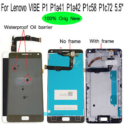 Original New For Lenovo VIBE P1 P1a41 P1a42 P1c58 P1c72 LCD Display Touch Screen